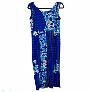 Jams World Blue Floral Sleeveless maxi dress